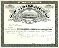 Weems Steamboat Co of Baltimore City Stock 189_