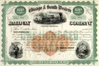 Chicago & South Western RR Stock 18__