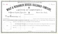 Wolf & Wisconsin Rivers RR Stock 18__