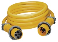 Hubbell CS50EXT4 100A 50' 4 Wire 125/250V Extension Cord