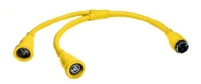 Hubbell HBL64CM55 Y Adapter 2 50A 125V Cords - 50A 250V