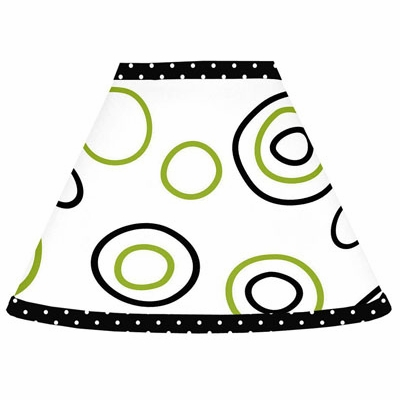Spirodot Lime and Black Lamp Shade