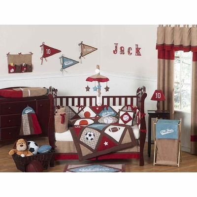 All Star Sports 9pc Crib Bedding Collection