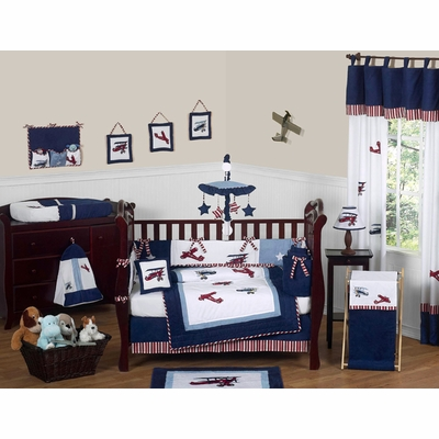Aviator 9pc Crib Bedding Collection