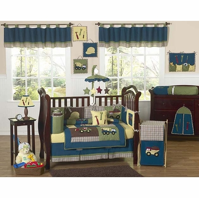 Construction Crib Bedding Collection