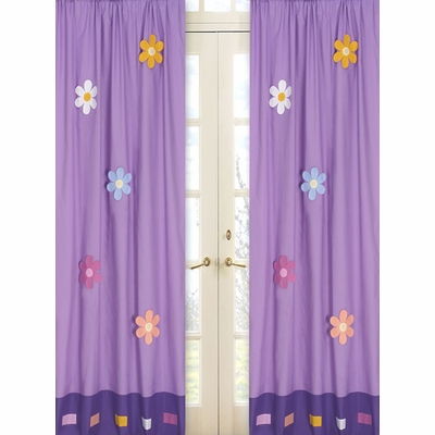 Daisies Window Panels - Set of 2