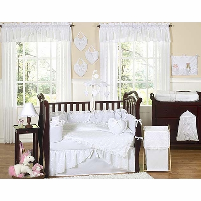 Eyelet White Crib Bedding Collection