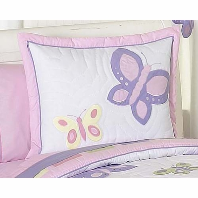 Butterfly Pink and Purple Pillow Sham