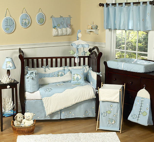 Go fish crib bedding collection for Fish crib bedding