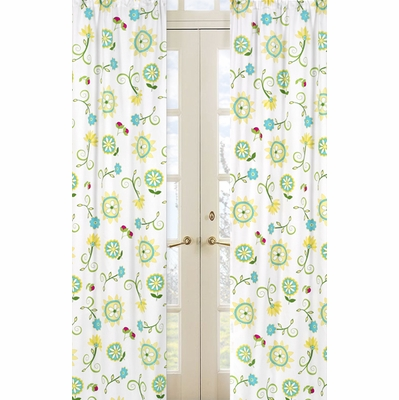Layla Floral Print Window Panels - Set of 2