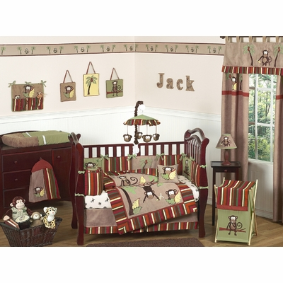 Monkey Crib Bedding Collection