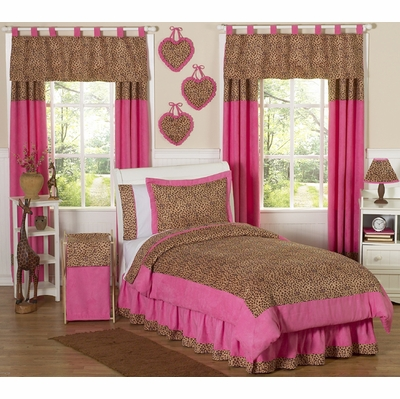 Cheetah Pink Twin Bedding Collection
