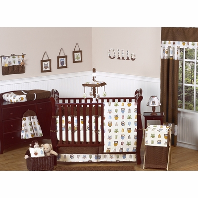 Owl Crib Bedding Collection