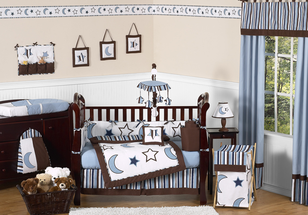 starry night crib bedding collection enlarge - Baby Bedding For Boys