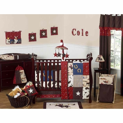 Wild West Cowboy 9pc Crib Bedding Collection