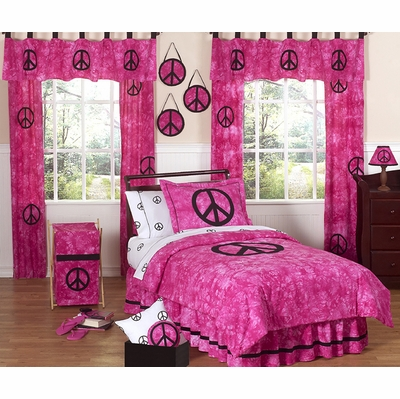 Peace Pink Twin Bedding Collection