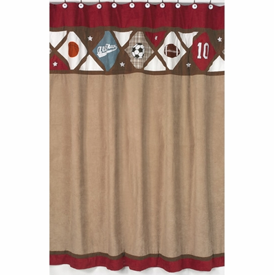 All Star Sports Shower Curtain