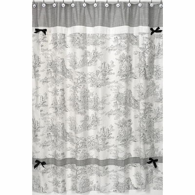Black Toile Shower Curtain