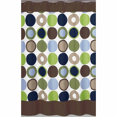 Designer Dot Shower Curtain