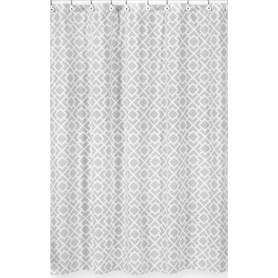 Diamond Gray and White Shower Curtain