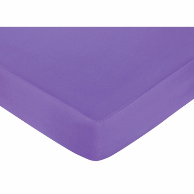 Daisies Crib Sheet - Solid Dark Purple