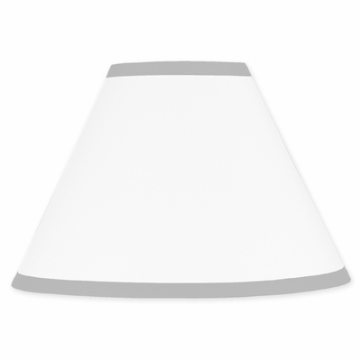 Hotel White and Gray Lamp Shade
