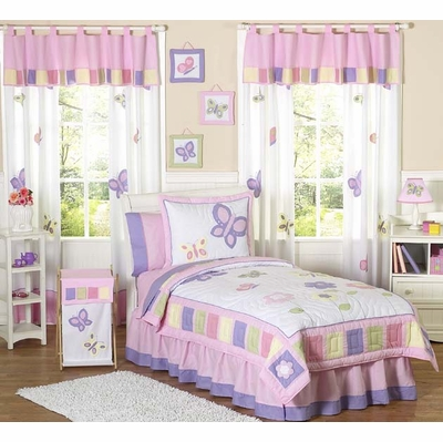 Butterfly Pink and Purple Twin Bedding Collection