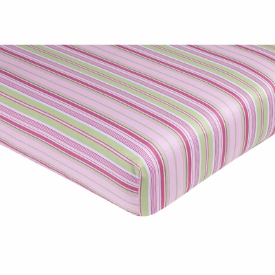 Jungle Friends Collection Fitted Crib Sheet - Stripe Print