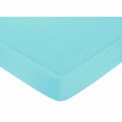 Layla Collection Fitted Crib Sheet - Turquoise