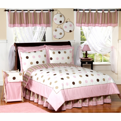 Mod Dots Pink Twin Bedding Collection