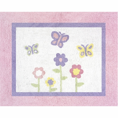 Butterfly Pink and Purple Accent Floor Rug