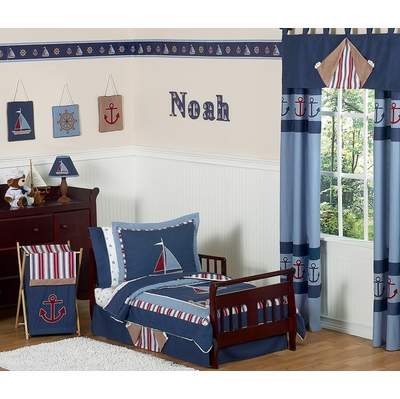 Nautical Nights Toddler Bedding Collection