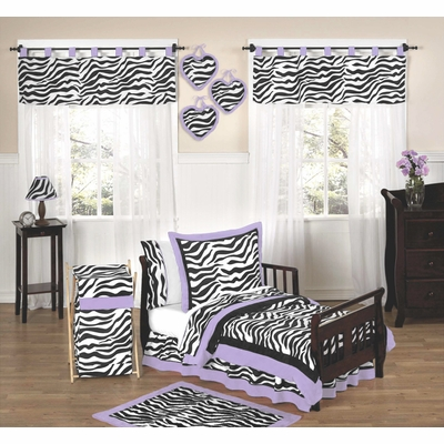 Zebra Purple Toddler Bedding Collection