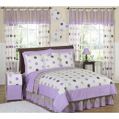 Mod Dots Purple Twin Bedding Collection