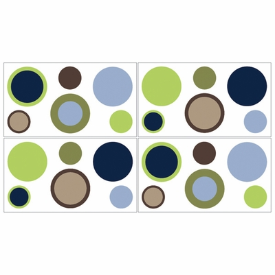 Designer Dot Wall Decals - Set of 4 Sheets