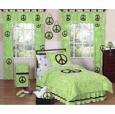 Peace Green Twin Bedding Collection