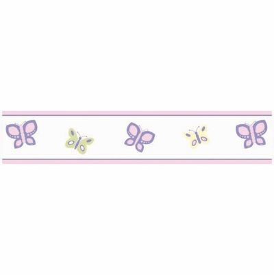 Butterfly Pink And Purple Wallpaper Border