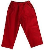 Bailey Boys Red Corduroy Elastic Waist Pants 12M-6.