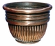 "Copper Glass - Appio Planter 20"" - Regular Copper Finish"