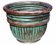 "Copper Glass - Appio Planter 20"" - Antique Copper Finish"