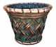 "Copper Glass - Medium Basket Weave Planter 20"" - Antique Copper Finish"