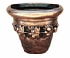 "Copper Glass - Small Fruit Planter 14 3/4"" - Regular Copper Finish"