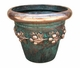 "Copper Glass - Medium Fruit Planter 20 1/4"" - Antique Copper Finish"