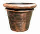 "Copper Glass - Large Rolled Rim Planter 24"" - Regular Copper Finish"