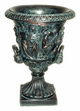 "Copper Glass - Greek Urn 13 3/4"" - Antique Copper Finish"