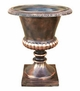 "Copper Glass - Large Smooth Urn 19 1/2"" - Regular Copper Finish"