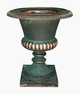 "Copper Glass - Large Smooth Urn 19 1/2"" - Antique Copper Finish"
