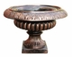 "Copper Glass - Small Star Urn 14 3/4"" - Regular Copper Finish"
