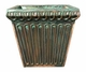 "Copper Glass - Fluted Square Planter 12 3/4"" - Antique Copper Finish"