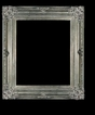 Art - Picture Frames - Oil Paintings & Watercolors - Frame Style #614 - 8x10 - Antique Silver - Ornate Silver Frames
